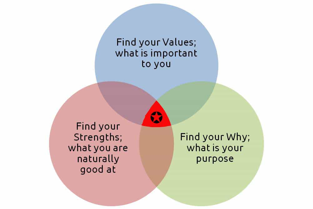 Venn diagram_Career Sweet Spot Part 1: Find Your Values | CareerSupport365