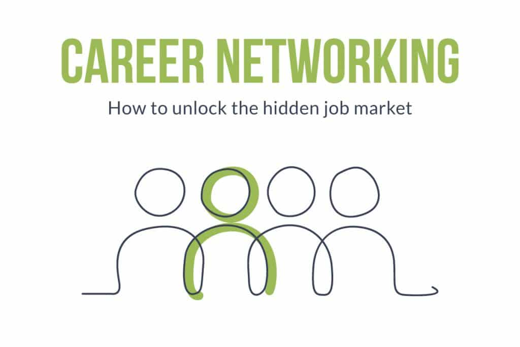 Career Networking | How to unlock the hidden job market | animated people with person standing out