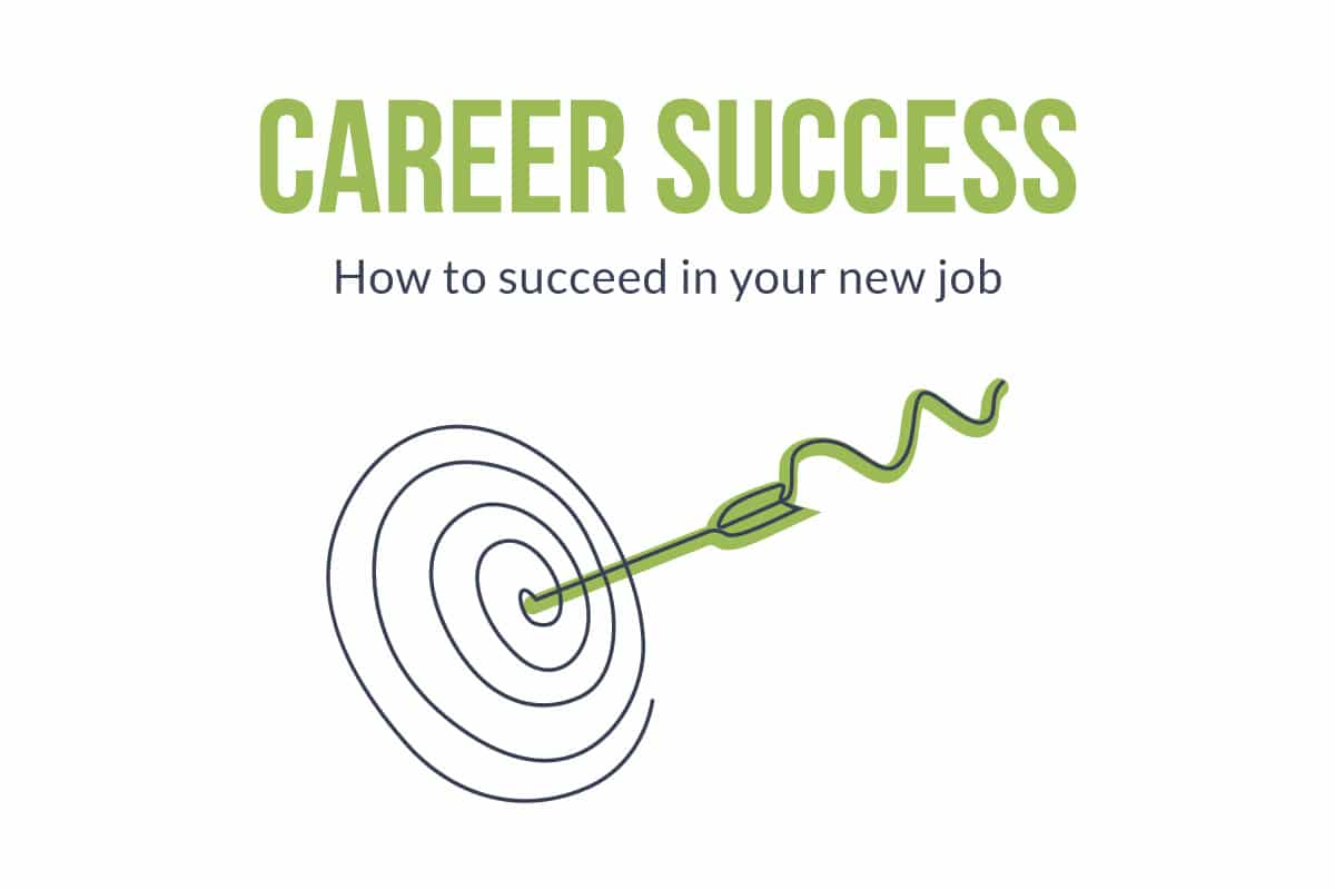 Career Success | How to success in your new job | arrow in target